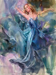 Blue Thunder by Anna Razumovskaya -  sized 30x40 inches. Available from Whitewall Galleries